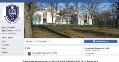 Profil szkoły na portalu Facebook